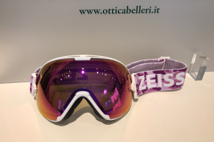 Goggle White ML Pink