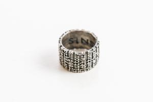 """Sins"" anello a fascia"