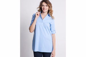 Camicia Polo in Popeline